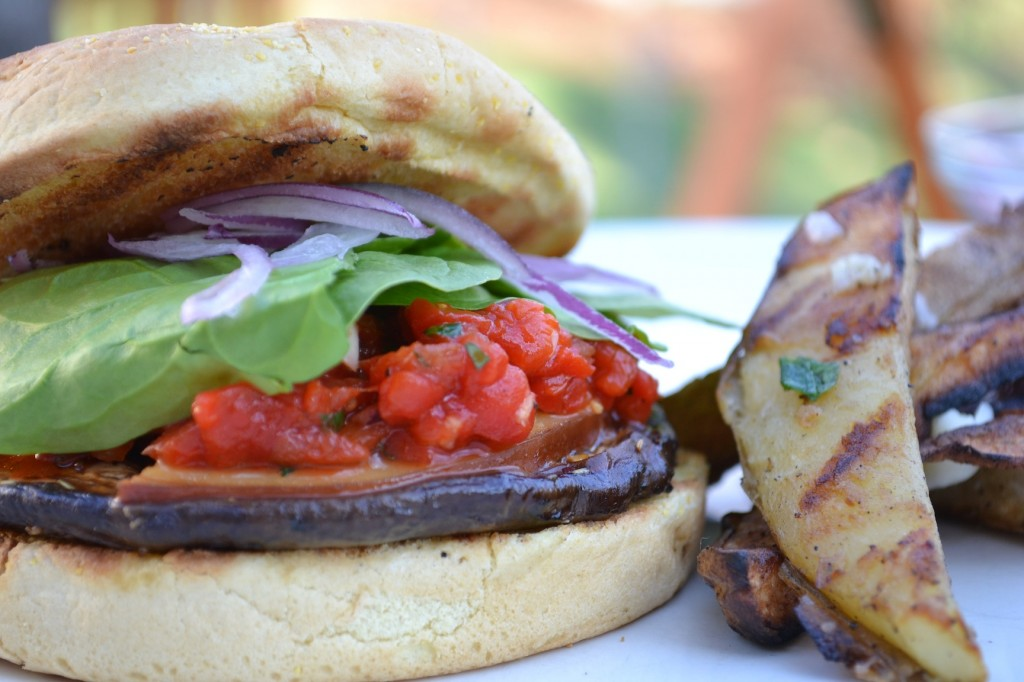 Grilled Portabella Mushroom Burger Recipe