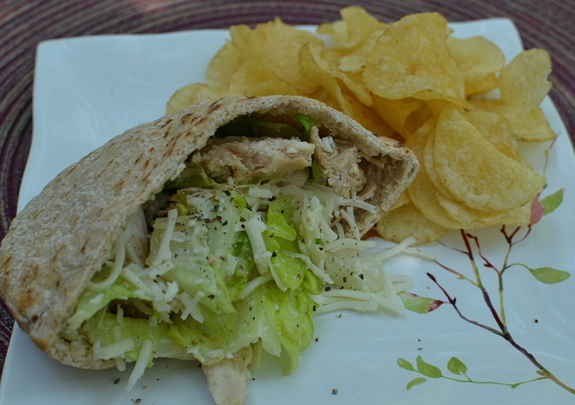 Leftover Chicken Cesear Pita