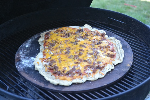 Grilled Bacon Cheeseburger Pizza Recipe