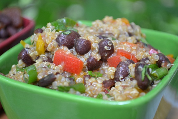 BBQ Leftovers: Quinoa with Mexican Black Beans