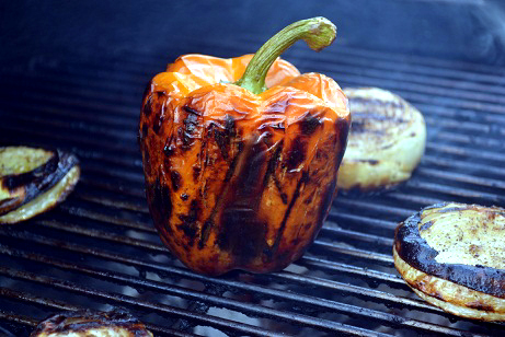 Roasting a Pepper On The Grill