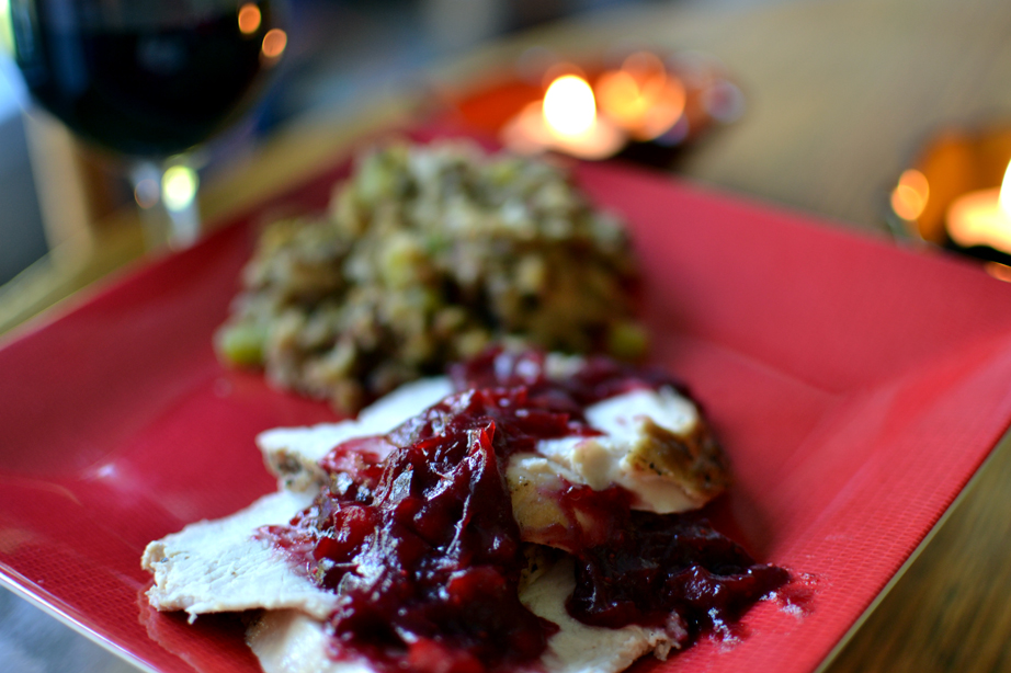 Smoked Turkey Breast with Cranberry Sauce