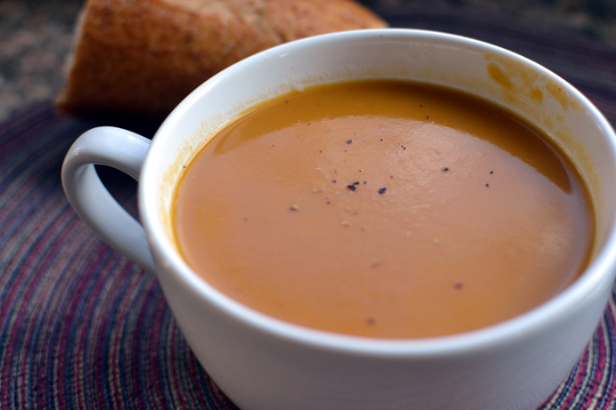 Fire Roasted Curried Butternut Squash Soup