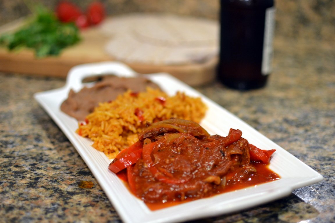 Mexican pork in chili sauce
