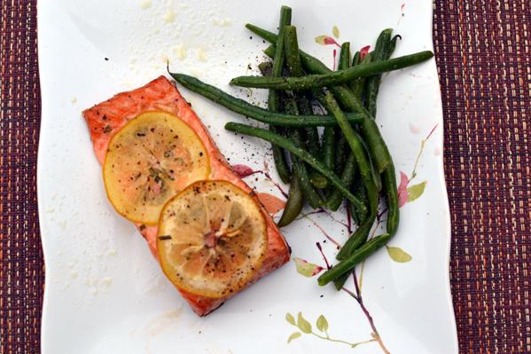 Lemon Pepper Salmon Steak