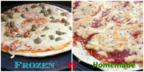 Frozen vs Real Pizza on the grill