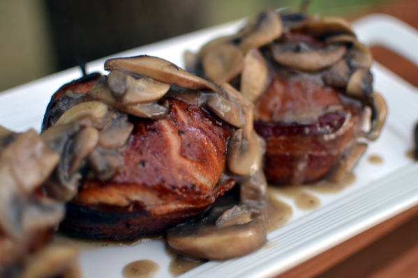 Turkey Mignon with Wine Mushroom Glaze