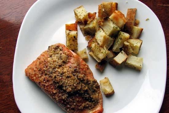 Mustard Brown Sugar Smoked Salmon