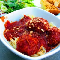 Thumbnail image for Smoked Meatballs with Spaghetti