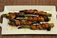 Thumbnail image for Bacon Wrapped Asparagus with Sweet Balsamic Glaze