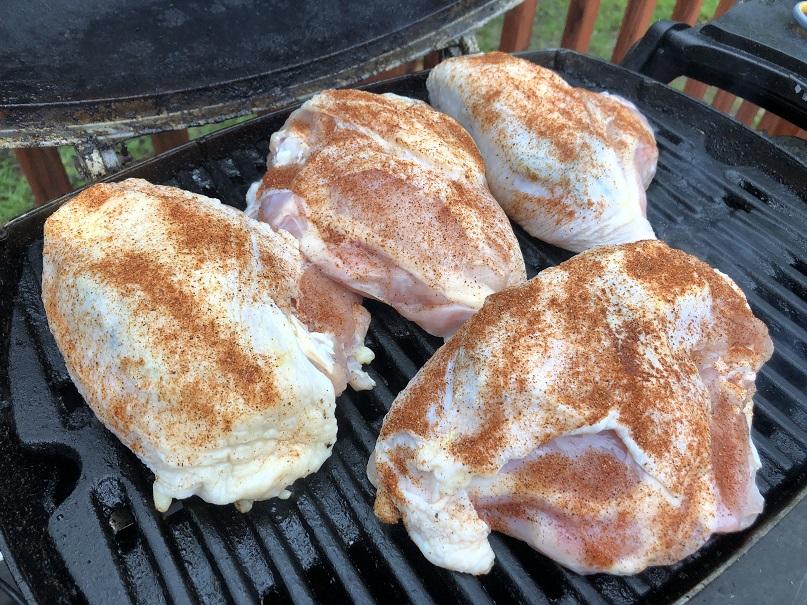 Chicken Breasts on Weber Q1200